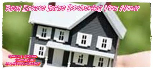 Real Estate Issue Bothering You Now?