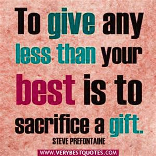 Don't Sacrifice A Gift