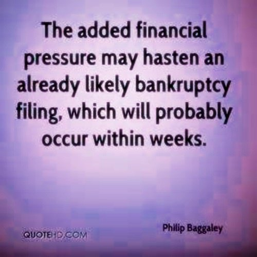 Prior To Filing for Bankruptcy