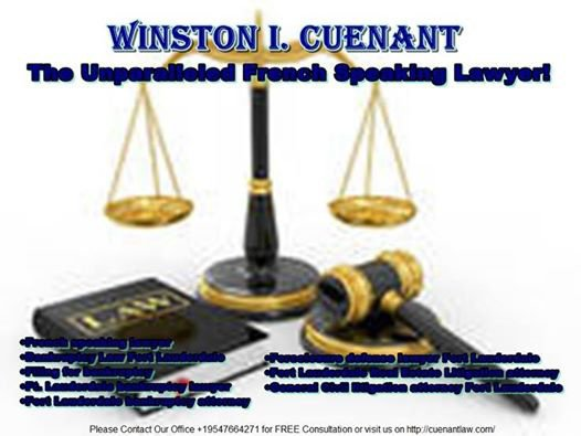 Winston I. Cuennant is an Accomplished Ft. Lauderdale Bankruptcy Lawyer!