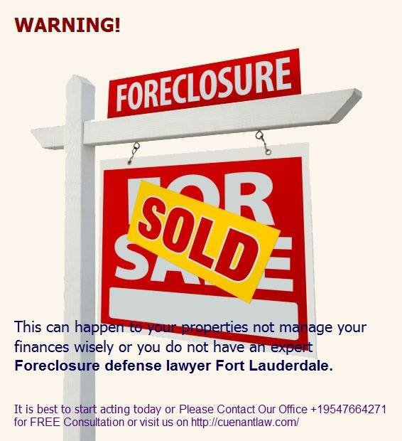 Foreclosure defense lawyer Fort Lauderdale