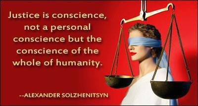 Every person is equally responsible for justice to be given.