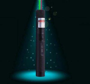 二色充電レーザー懐中電灯 満天の星グリーンレーザーポインター