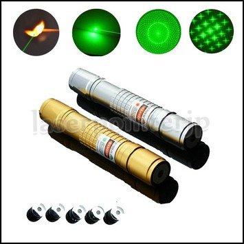 耐衝撃対応LEDライト付き緑レーザーポインター星空観察