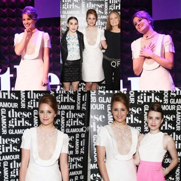 20.05.13  Notre belle Dianna Agron était   présente à Joe's Pub à New York afin d'assister à l'évènement « These Girls ».