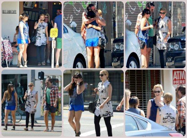16.07.13 Dianna a déjeuner avec une partie du Glee Cast suite à la mort de Cory Monteith.