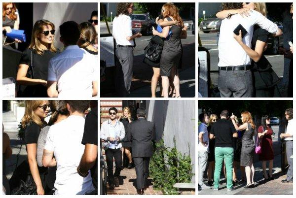25.07.13 Dianna a été vu en compagnie du Glee Cast lors du mémorial en l'honneur de Cory.