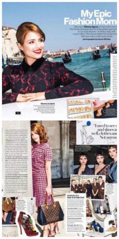 Voici Dianna pour le numéro du mois de septembre du magazine Glamour.