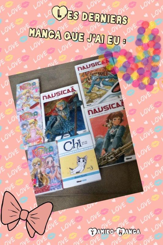 Présentation de touts mes nouveaux mangas !