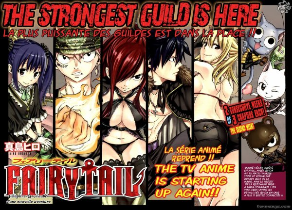 L'animé de Fairy Tail reprend !!