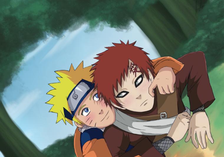 Naruto et Gaara
