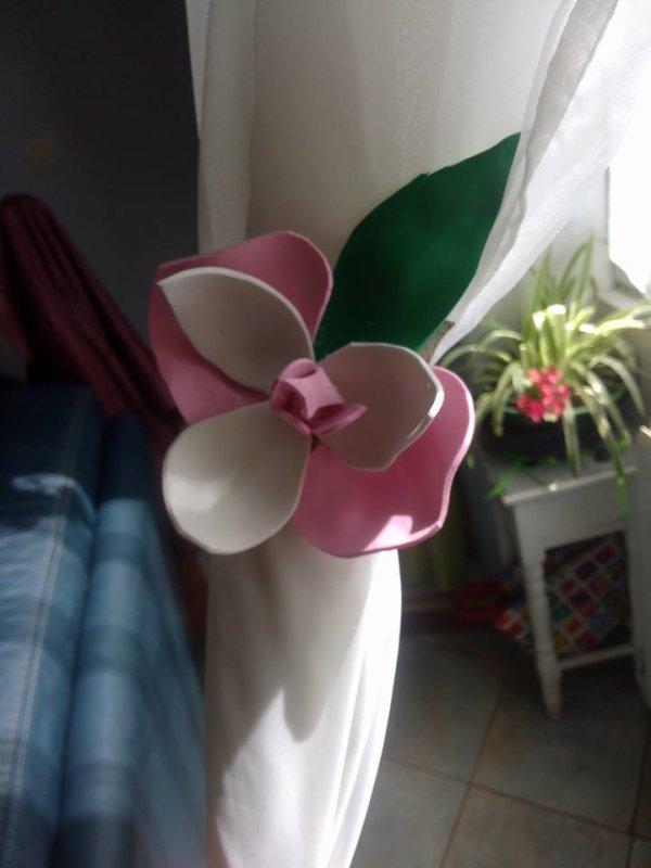 orchidee fait maison pour deco les rideaux