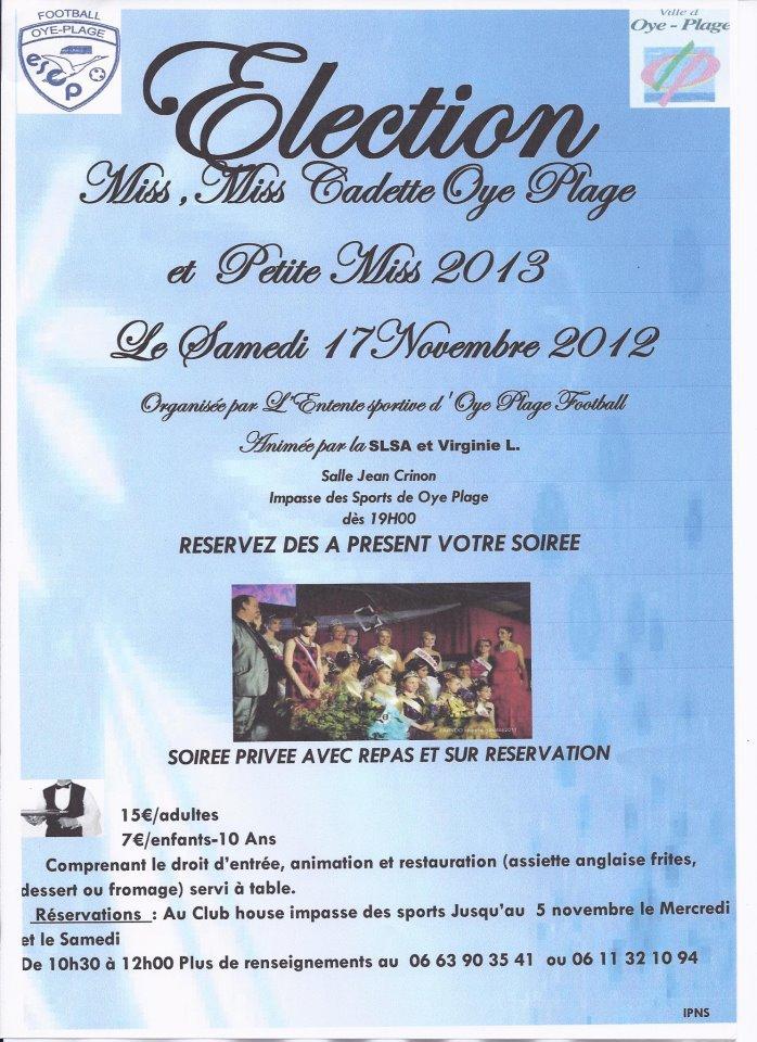 ELECTION DE MISS OYE PLAGE, MISS CADETTE, et PETITE MISS OYE PLAGE 2013