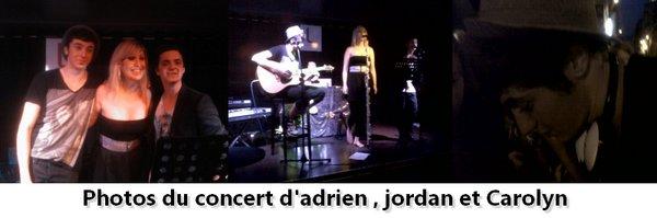 concert de Jordan , Adrien et Carolyn
