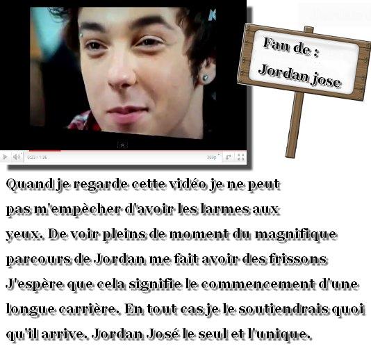Jordan jose -support (vidéo +petit mot de la webmiss)  + 1 vidéo via facebook