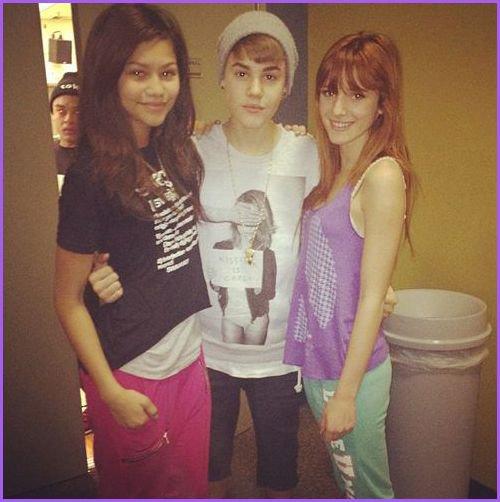 Zendaya et Bella avec Justin ♥