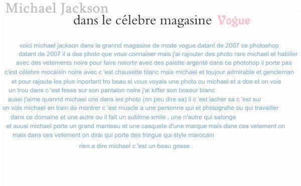 Michael Jackson & Vogue