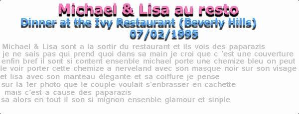 Michael & Lisa au restaurantUltiimexMiichaelxJacks0n