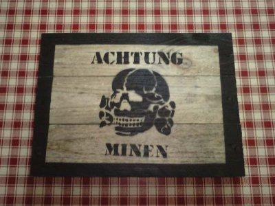 panneau achtung minen
