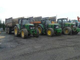 John Deere 6920 avec Dangreville 18t , 6930 avec Ponthieux 18t , 7530 avec Ponthieux 24t