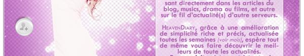 Bienvenue sur HeavenDiary.skyrock.com !