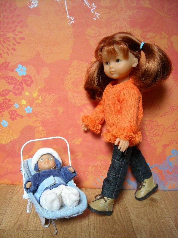 Clara et son petit frère, Jules