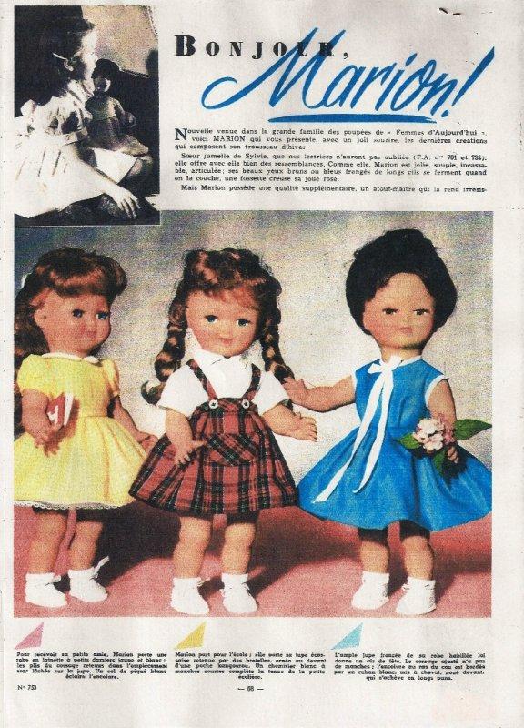 Bonjour Marion, 8 octobre 1959