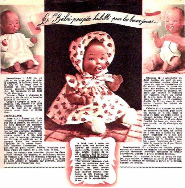 Le bébé-poupée de Femmes d'Aujourd'hui