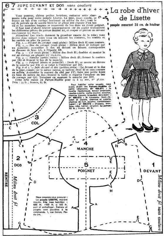 La robe d'hiver de Lisette (25-11 1951)