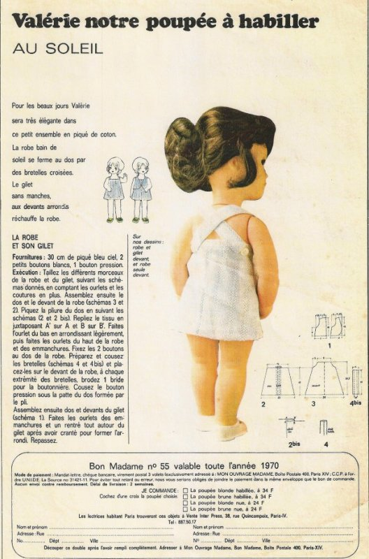 Valérie, mon ouvrage madame, juin 1970