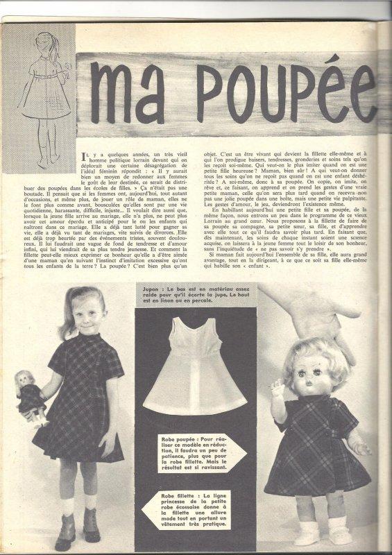 Pati, Mon ouvrage Madame , décembre 1958