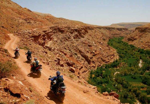 A motos au Maroc