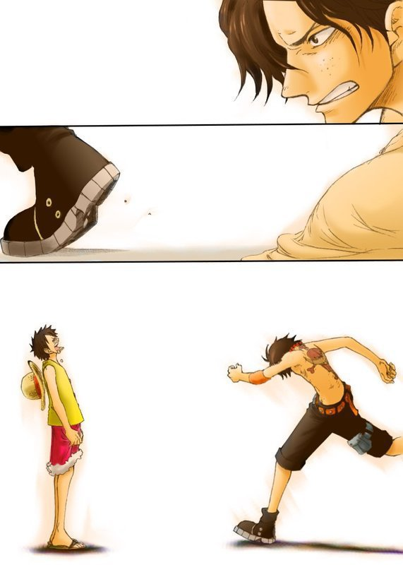 "Luffy et Ace ""You'll Go Alone"""