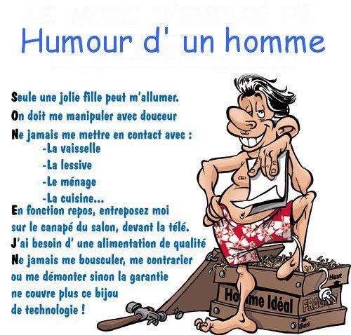 humour d'une homme !!