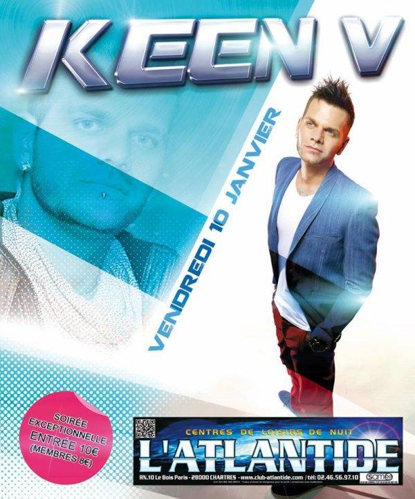 Keen'v sera en showcase à L'Atlantide à Chartres le 10/01/14