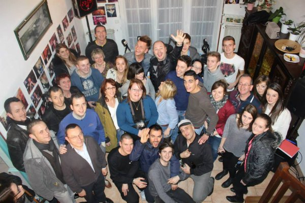 Keen'v chez Yoann avec l'équipe de Cauet le 19/02/14