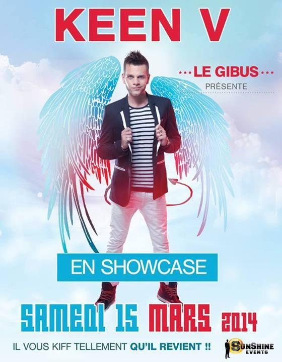 Keen'v en showcase au Gibus le 15/03/2014