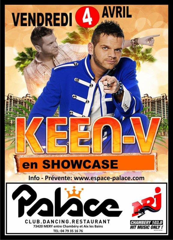 Keen'v en showcase au PALACE le 4 avril 2014