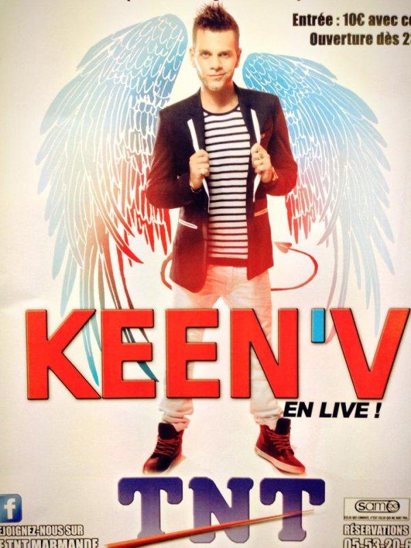 Keen'v revient bientôt au TNT de Marmande (47) (La date bientôt disponible)