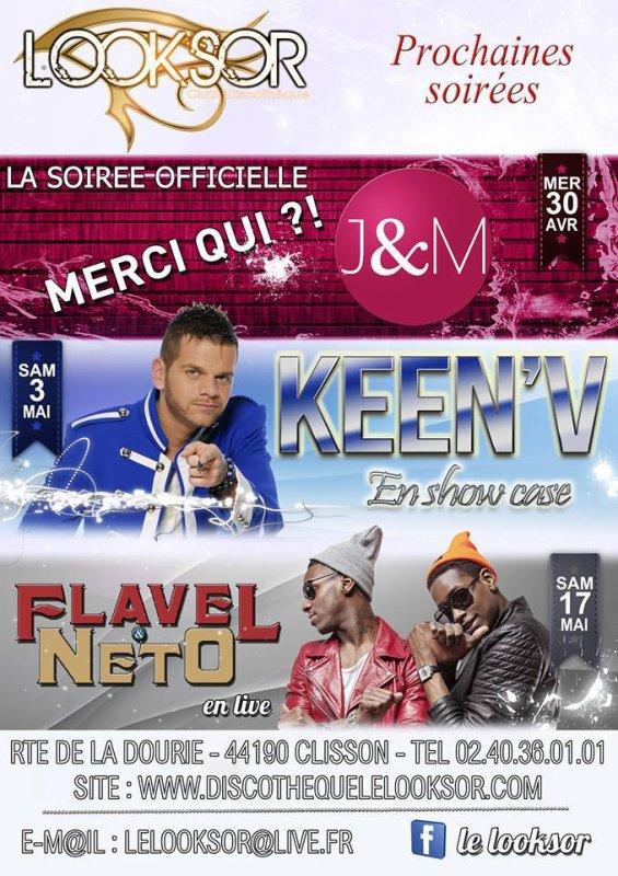 Keen'v en show-case au LOOKSOR le 03/05/2014