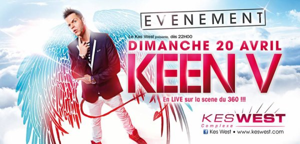 Keen'v en live au Kes West à Bourg le 20 avril