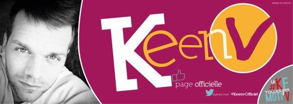 La new bannère de la page facebook officiel de Keen'v