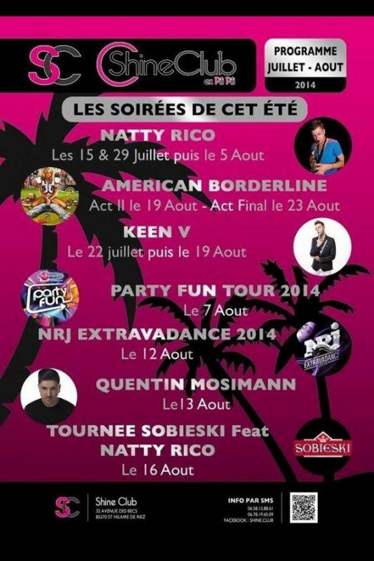Keen'v sera en show-case au Shine club le 22/07/2014 et le 19/08/2014