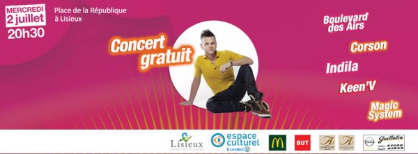 Keen'v sera au concert Cristal live à Lisieux le 02/07/2014