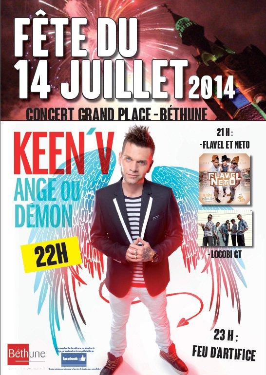Keen'v en show-case à Béthume le 14/07/2014