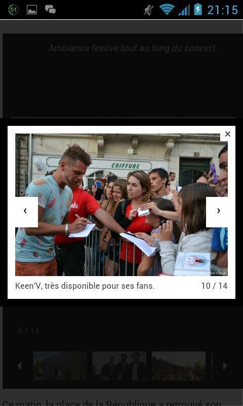Keen'v au concert au Cristal Live le 02/07/2014 à Lisieux ( Trouvé sur internet merci à @Tal_MyLife de m'avoir envoyer les photos)