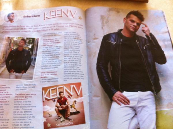 L'interwieu de Keen'v dans le new magazine Mélody Time + poster ( Merci à Mélanie de la #KF pour la photo)