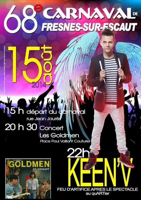 Keen'v en showcase à  Fresnes sur Escaut le 15/08/2014