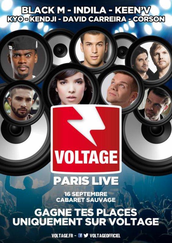 Keen'v sera en LIVE au Voltage Paris Live le 16/09/2014 à Paris