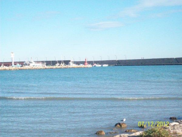 L'entrée du port de Péniscola